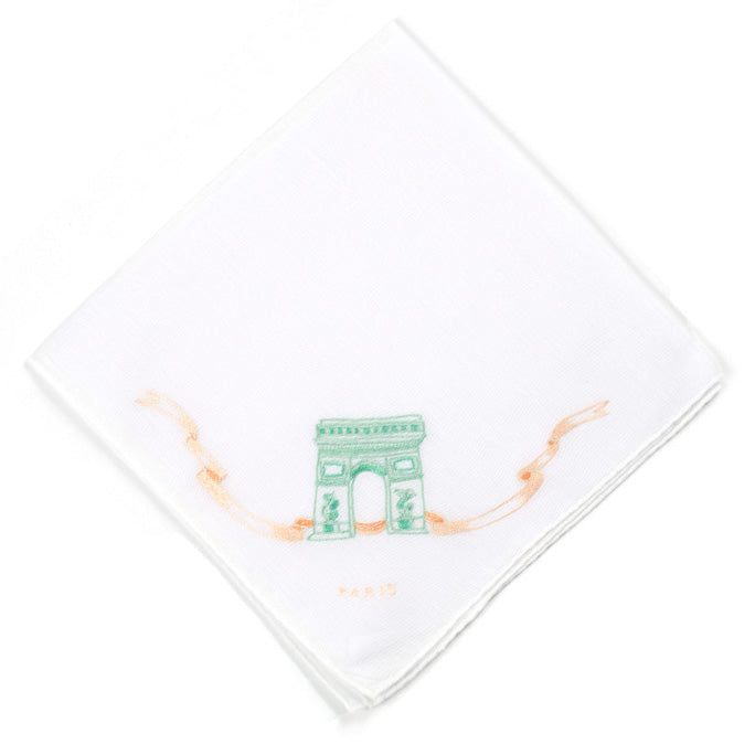 Arc de Triomphe Embroidered Handkerchief
