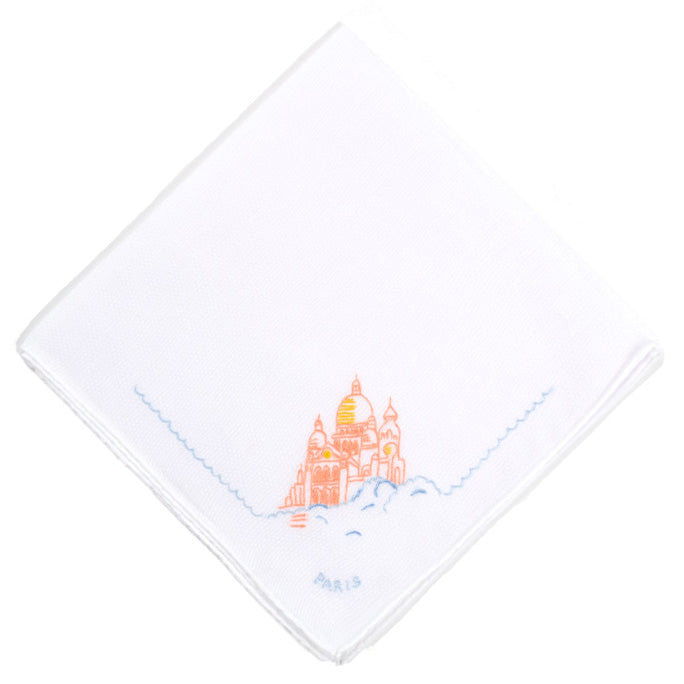 Sacre Coeur Embroidered Handkerchief