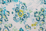 New York Milles Fleurs Blue/Green Coverlet