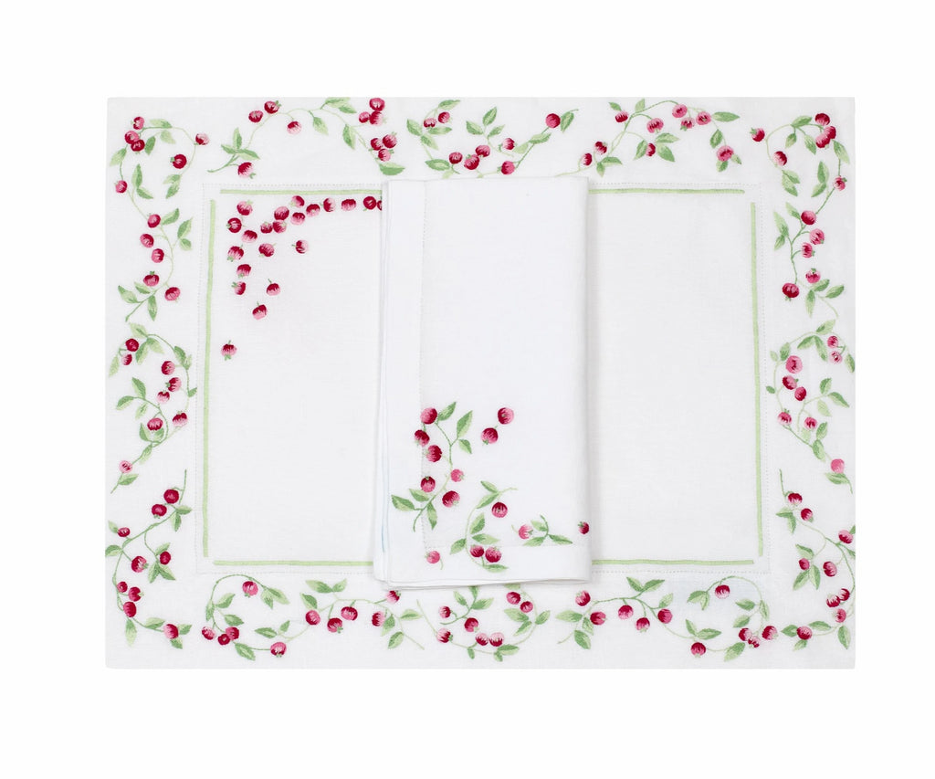 Baies Rose Placemat/Napkin Set