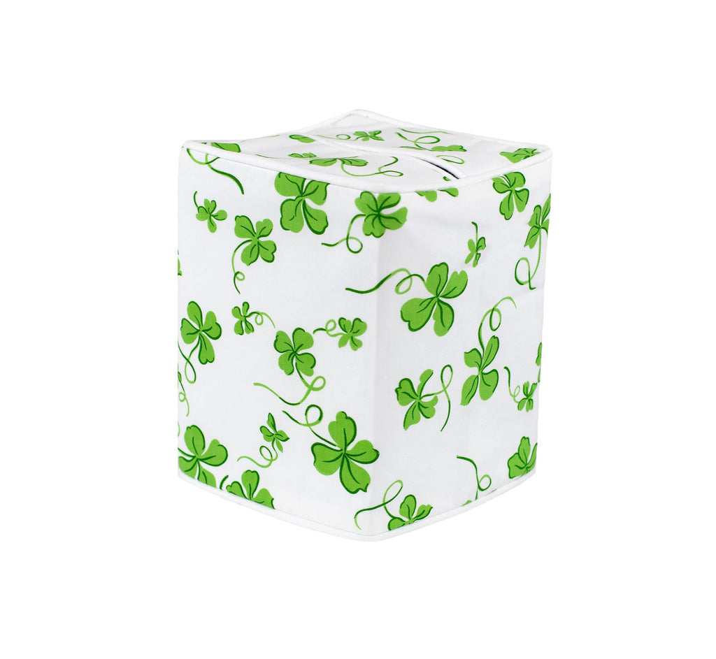 Trèfles Green Tissue Box Cover