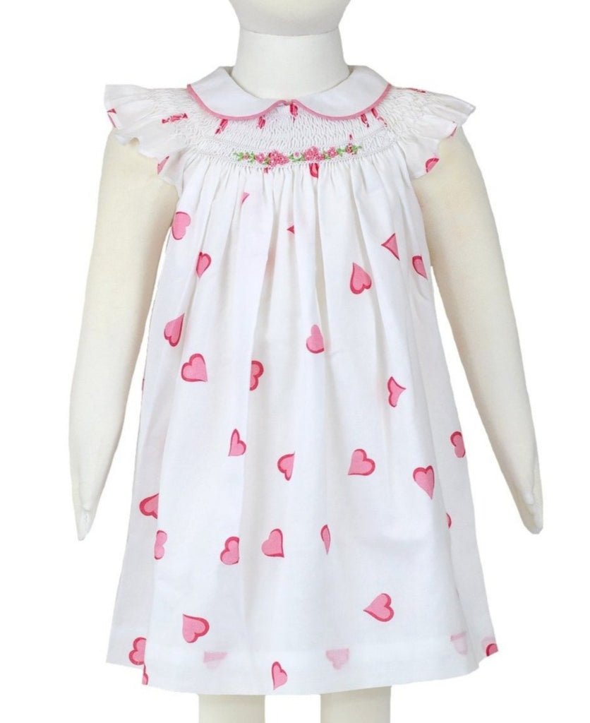 Vivi Coeurs Pink Smocked Dress