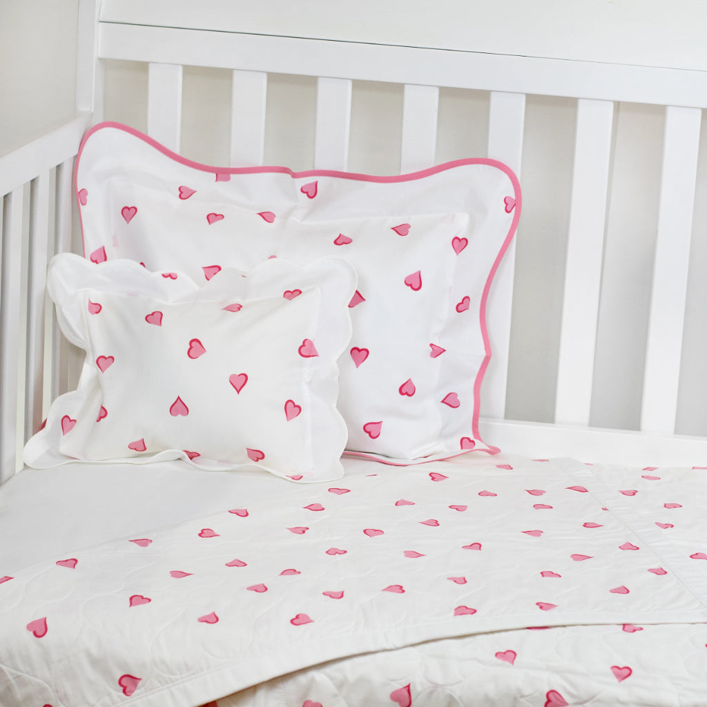 Coeurs Pink Baby Quilt