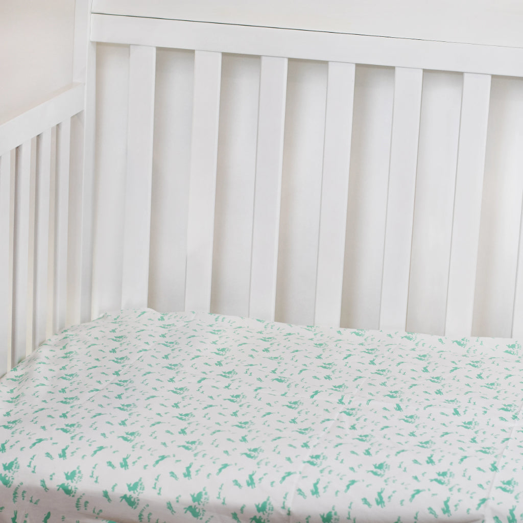 Lapins Menthe (Mint) Fitted Crib Sheet