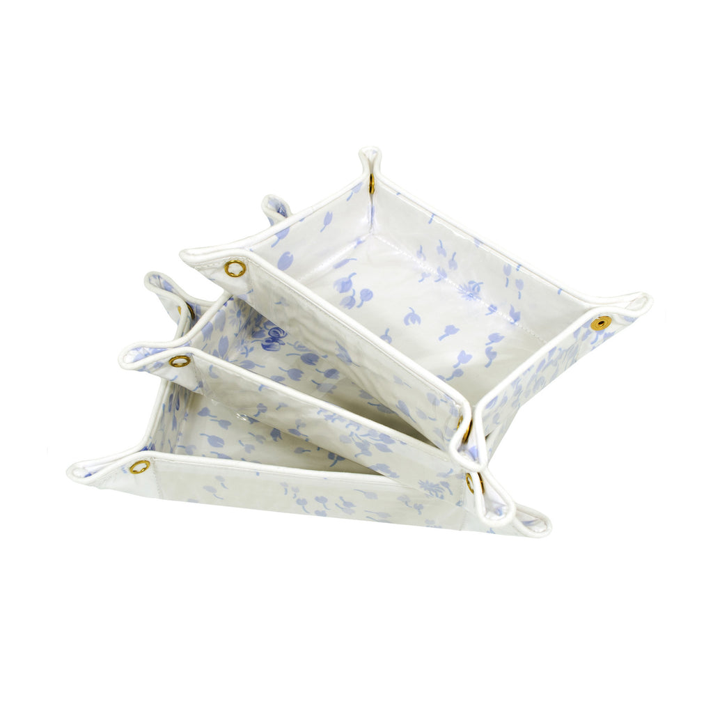 Bouquet Eclaté periwinkle travel trays