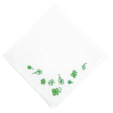 Embroidered Green Clover Handkerchief