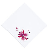 Orchidée Embroidered Handkerchief