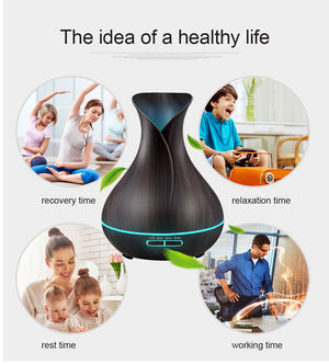 400ml Essential Oil Ultrasonic Air Humidifier/ Aroma Diffuser