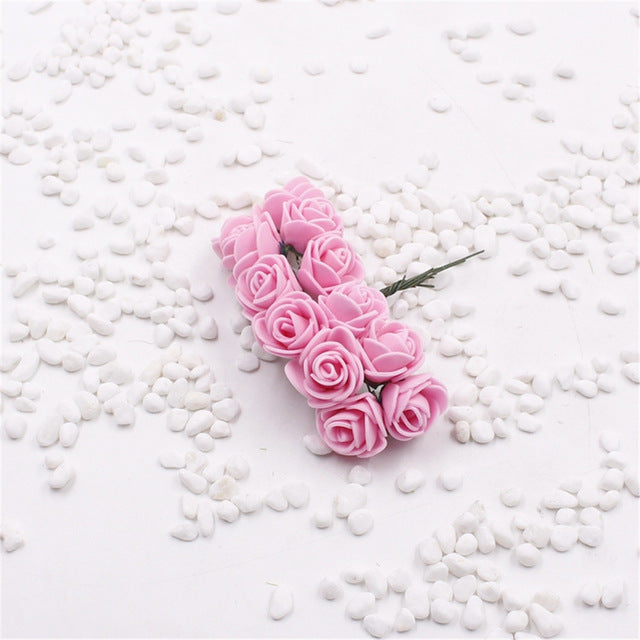 12 pieces Mini Rose Artificial Flowers For Home Decoration