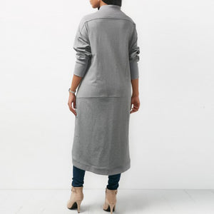 Women's Long Sleeve Sweatshirt Dress Irregular Hem Long Vestido Solid Fleece Pullover Plus Size