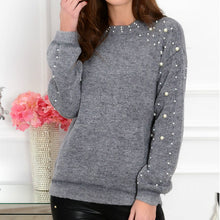 Load image into Gallery viewer, Women's Knit Beading Sweater