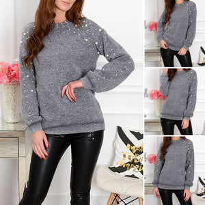 Women's Knit Beading Sweater