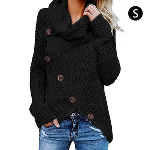 Turtleneck Button Lightweight Knit Sweater