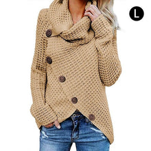 Load image into Gallery viewer, Turtleneck Button Lightweight Knit Sweater