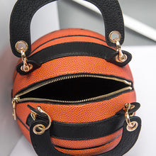 Load image into Gallery viewer, Round Cross-Shoulder Basketball-style Chain Crossbody Messenger Handbag