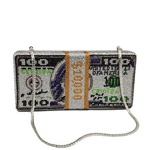 Load image into Gallery viewer, Crystal-style Money Dollars Handbags