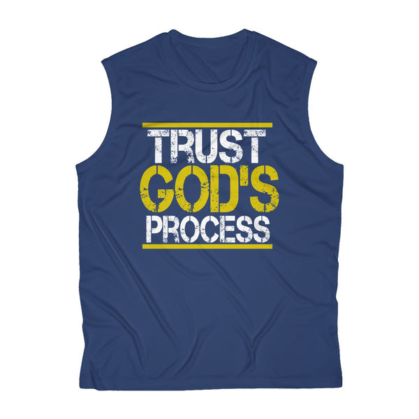 "Men's ""Trust God's Process"" Sleeveless Performance Tee"