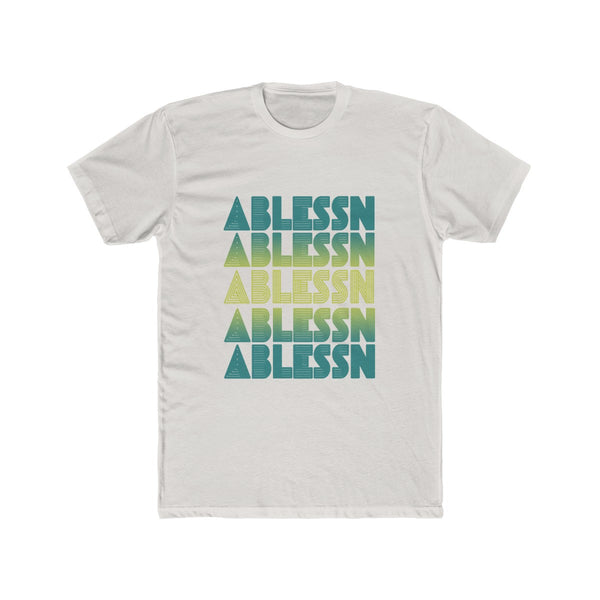 "Men's ""Ablessn"" Gradient Cotton Crew Tee"