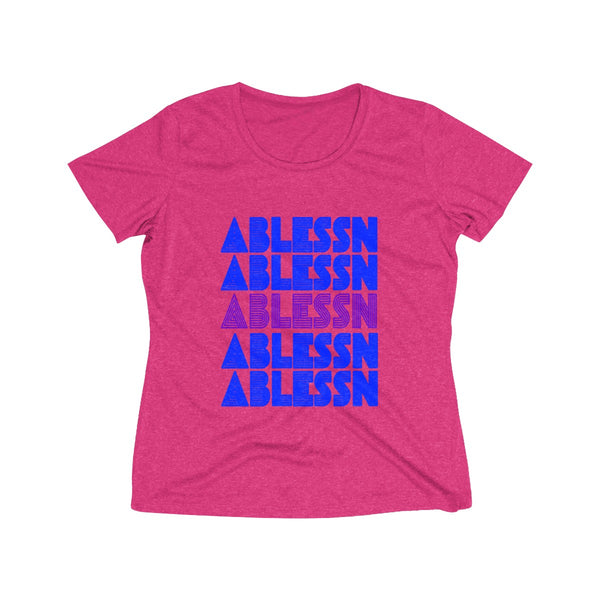 "Women's ""Ablessn"" Heather Wicking Tee"