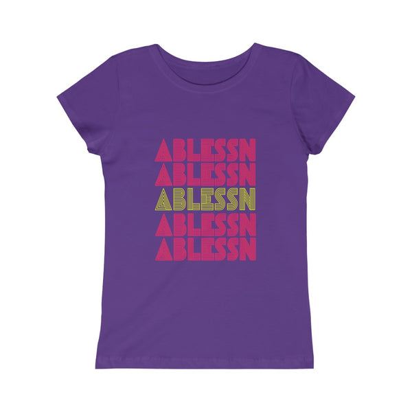 "Girls ""Ablessn"" Princess Tee"