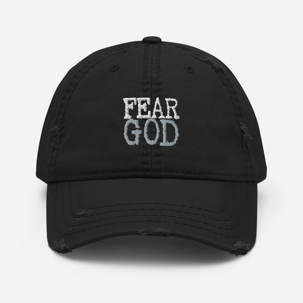 """Fear God"" Distressed Dad Hat"