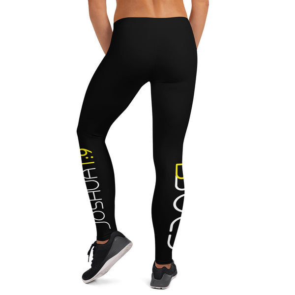 "Black ""BBold"" Leggings with Scripture"