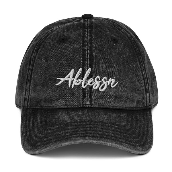 """Ablessn"" Vintage Cotton Twill Cap"