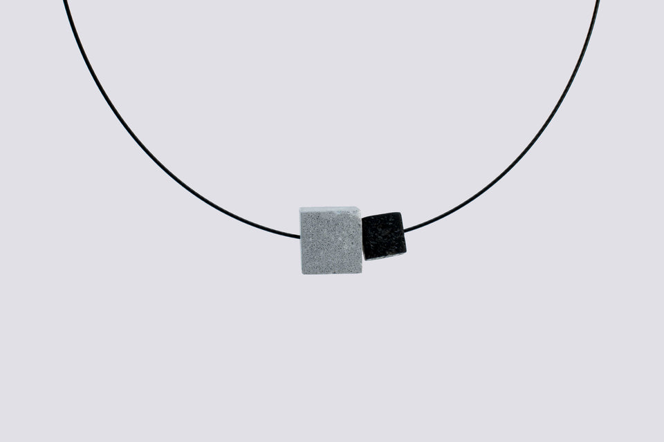 Concrete necklace ETERNO