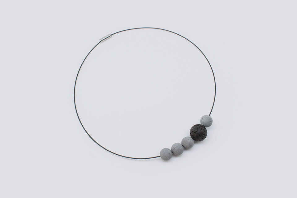 Concrete necklace CALMSHAPE
