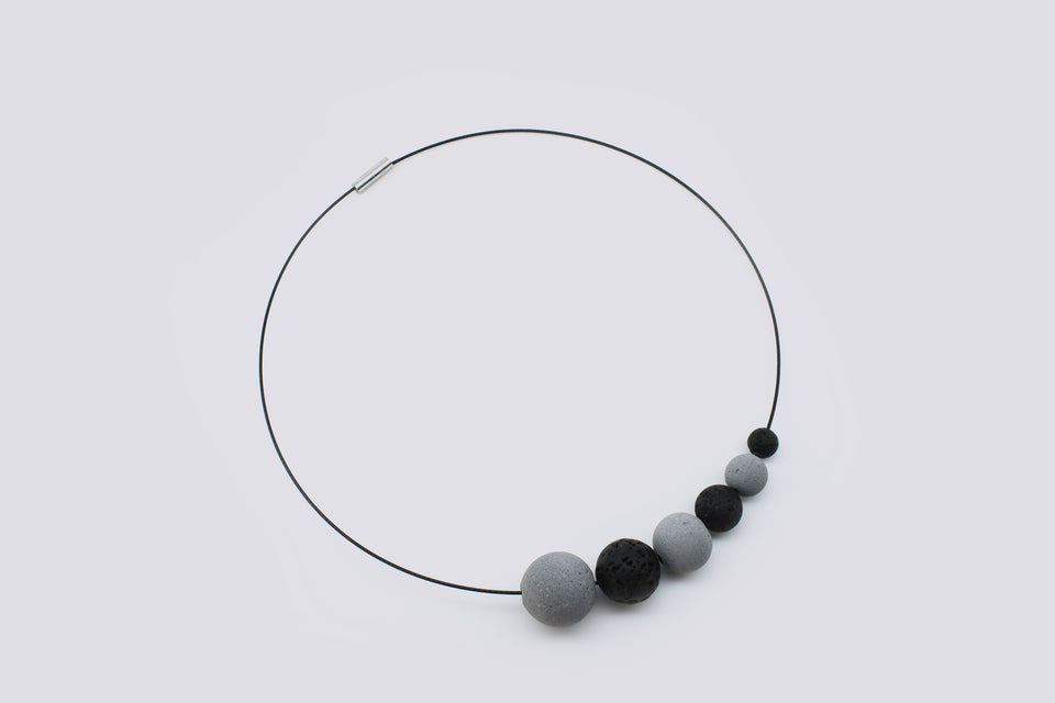 Concrete necklace SENCIL
