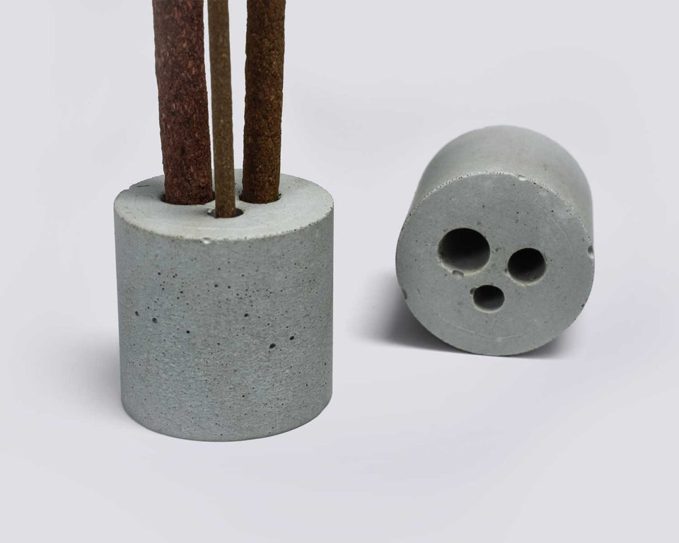 Concrete Incense Burner with Multi Size Stick Holder