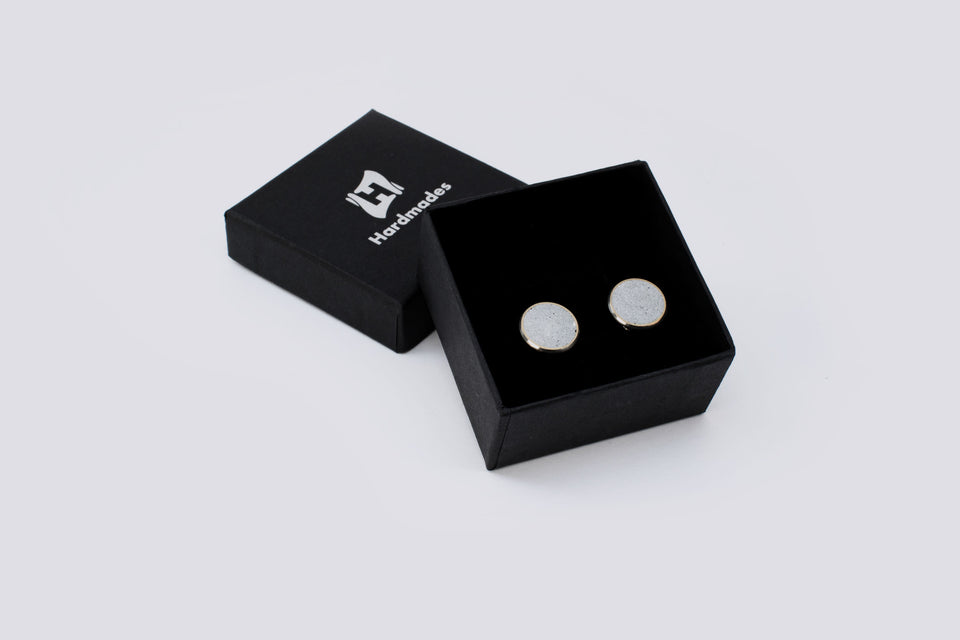 Concrete cufflinks