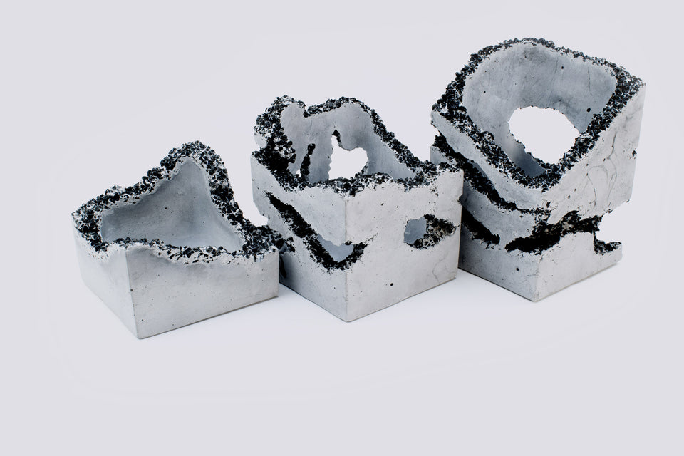 EROSION Concrete Box Set of 3 /  No. 001