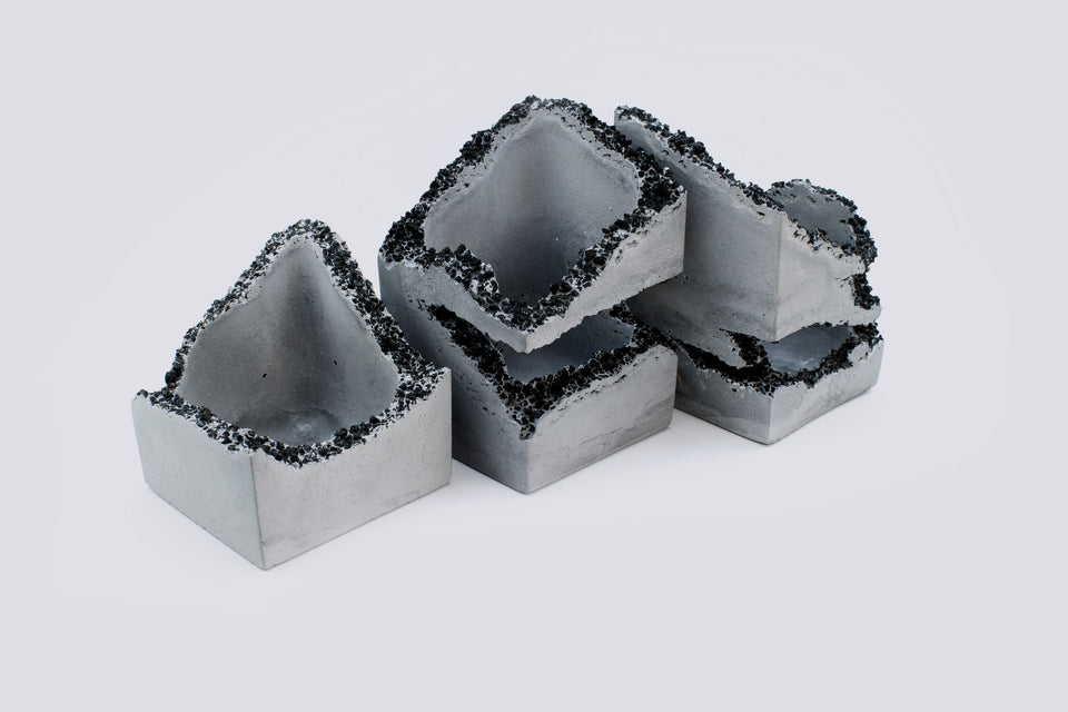 EROSION Concrete Box Set of 3 /  No. 003