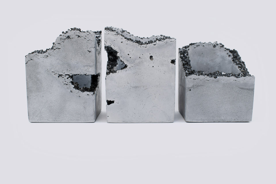 EROSION Concrete Box Set of 3 /  No. 004