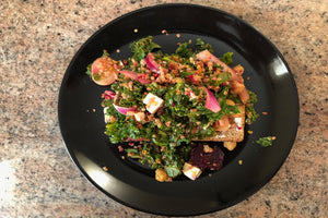 Smoked Salmon with Loaded Kale and Quinoa Salad Breakfast Toast - Healthy Foodie - ILYNSI Yoga