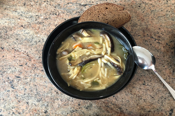 Savory Vegetable Udon Miso Soup