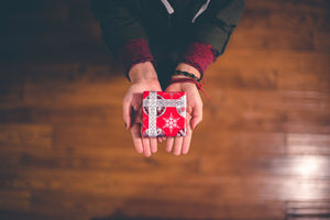 Karma Series: The Law of Giving and Hospitality - ILYNSI Yoga - Person holding a gift box in their hands