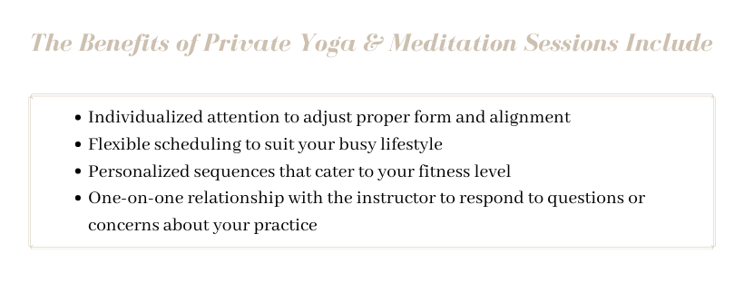 Benefits of Private Yoga and Meditation Sessions - ILYNSI Yoga - Private Yoga and Meditation