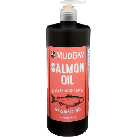 Salmon oil for dogs in brown bottle