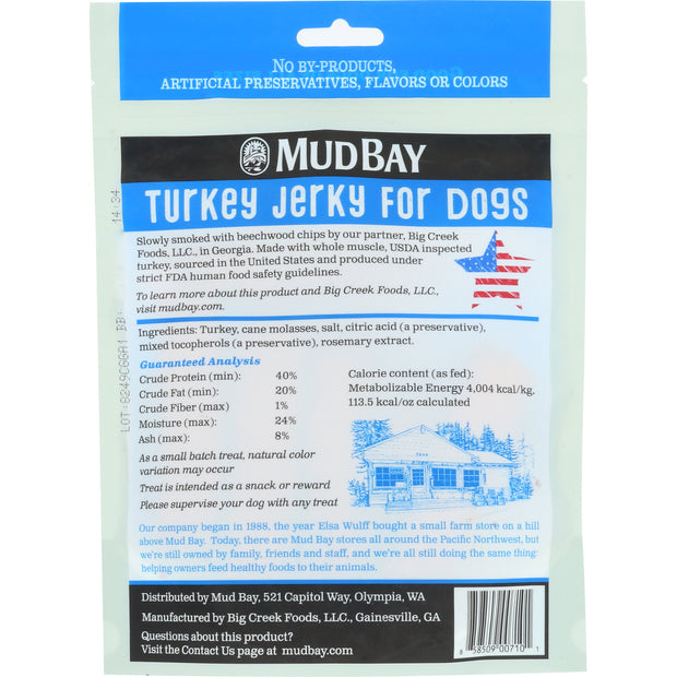 Mud Bay Turkey Jerky for Dogs 5 oz.