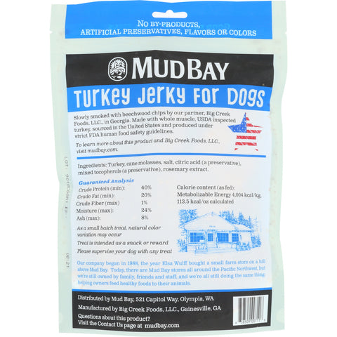 Mud Bay Turkey Jerky for Dogs 12 oz.