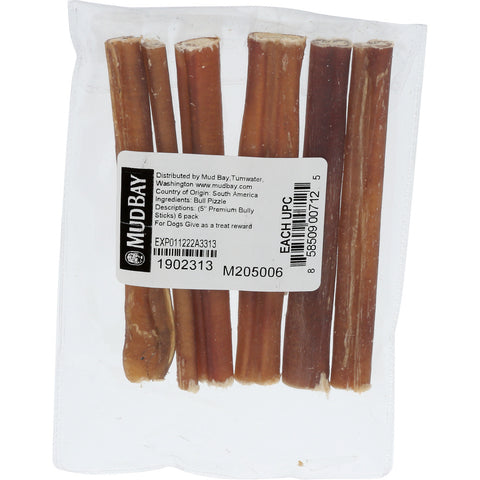 Mud Bay Bully Sticks 5 inch (6-Pack)