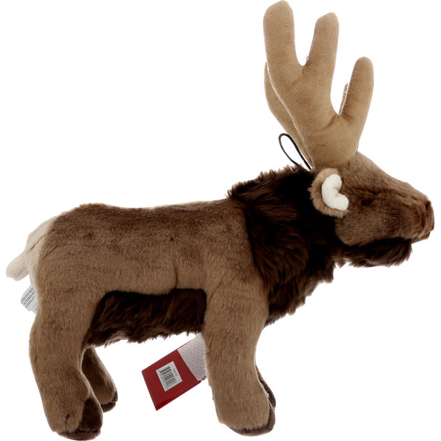 Right view of brown elk Fluff and Tuff dog toy