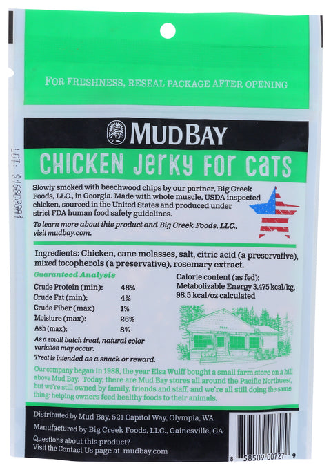 Mud Bay Chicken Jerky for Cats 3 oz.