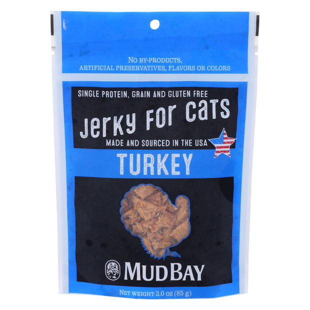 Mud Bay Turkey Jerky for Cats 3 oz.