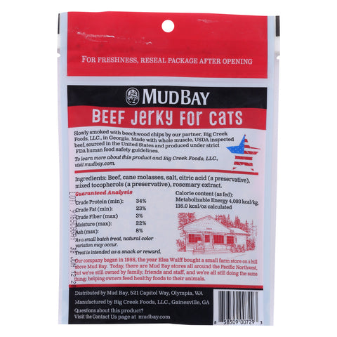 Mud Bay Beef Jerky for Cats 3 oz.