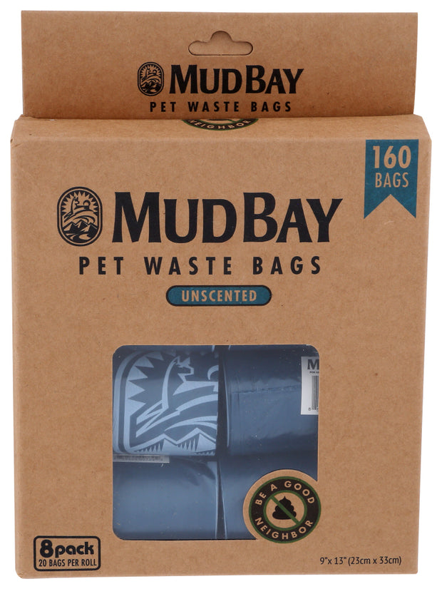 Mud Bay Pick-up Bags Unscented 8 Rolls