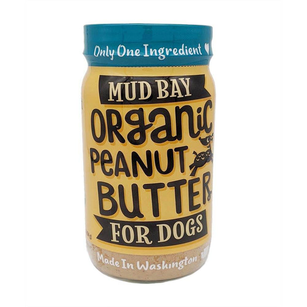 natural dog peanut butter jar front view