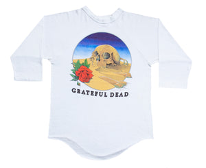"Grateful Dead ""1981 European Tour"" 3/4 Length Sleeve Raglan Tee"